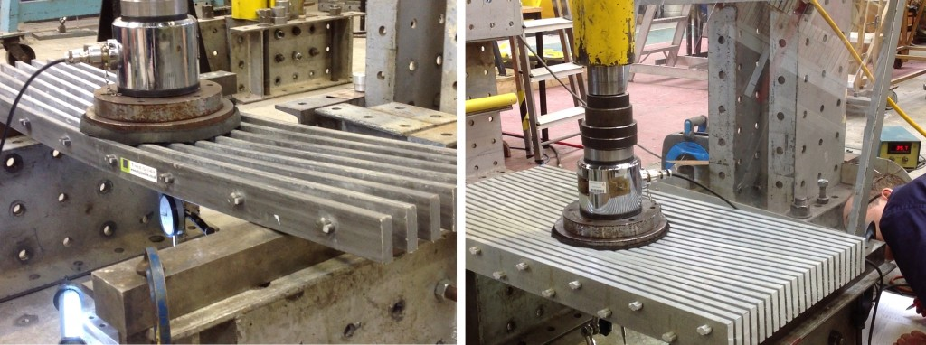 Impact testing on Pultruded grating