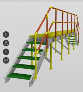 GRP Bridge 3D Model