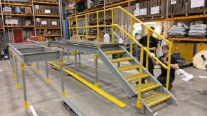 Bespoke GRP Platforms being Fabricated.